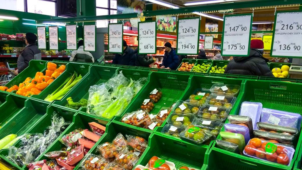 Inflationsentwicklung in Russland