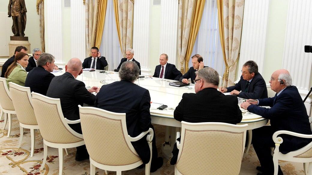 Putin trifft deutsche Top-Manager