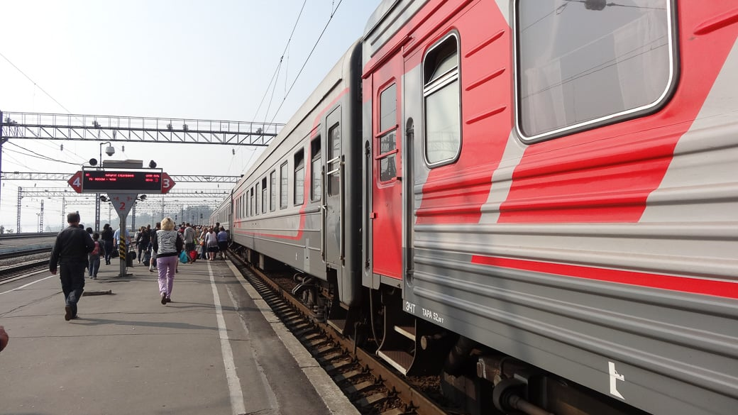 Zugfahren in Russland
