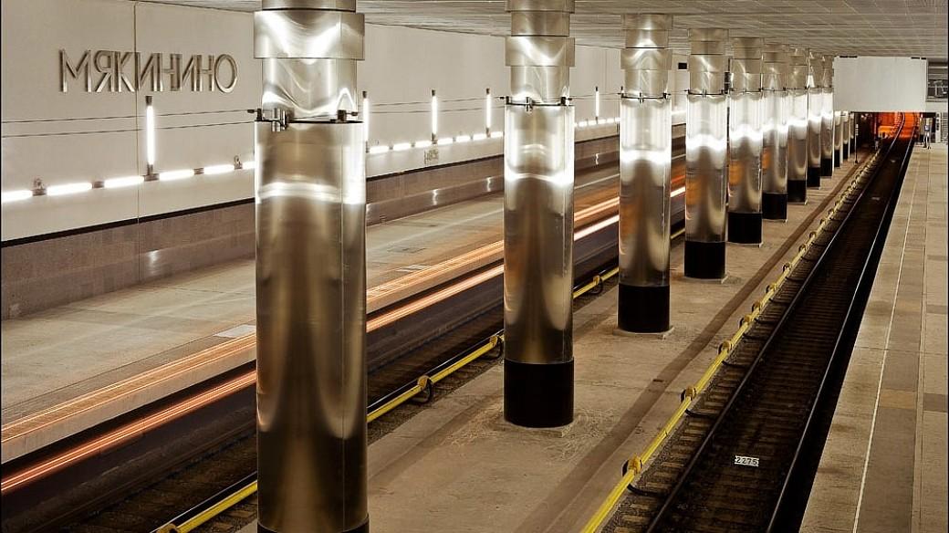 Moskauer Metro-Station Mjakinino bei Crocus Expo schließt am 22. August
