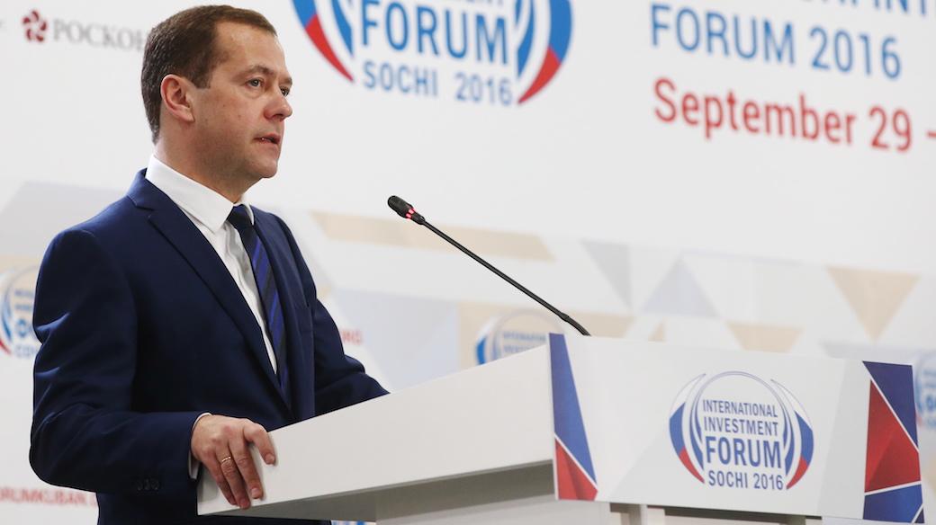 So erfolgreich war das Investitionsforum 2016 in Sotschi. Auf dem Bild: Dmitrij Medwedjew