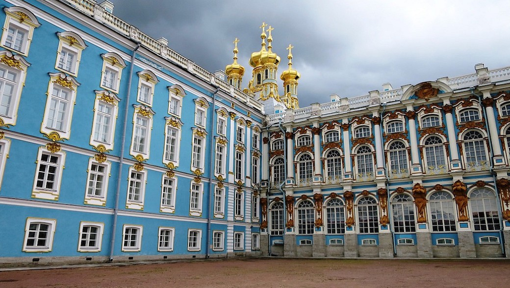 Katharinenpalast in Puschkin (früher Zarskoje Selo) in der Nähe von Sankt Petersburg