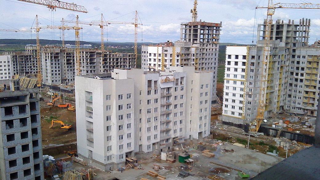Ein neues Wohngebiet in Jekaterinburg.