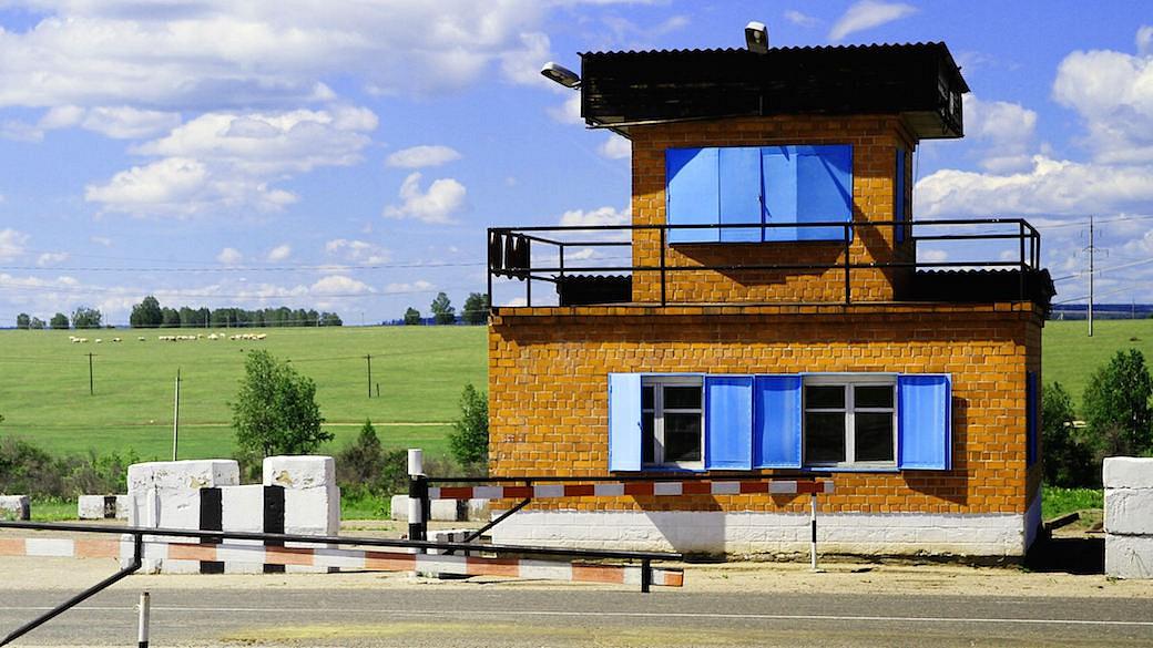Russland errichtet eine Grenzzone an der russisch-weißrussischen Grenze.