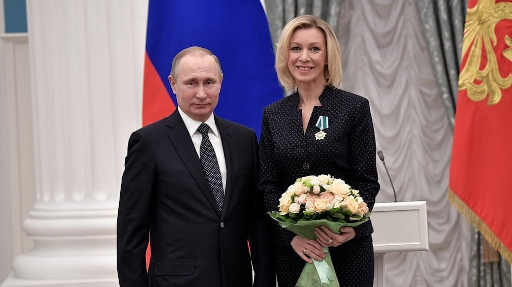 Maria Sacharowa, Sprecherin des russischen Außenministeriums
