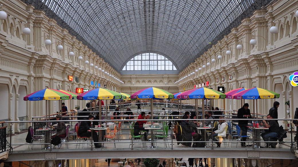 Einkaufszentrum GUM in Moskau.