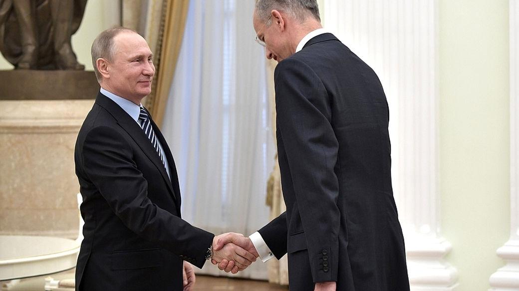 Putin und BASF-CEO Bock