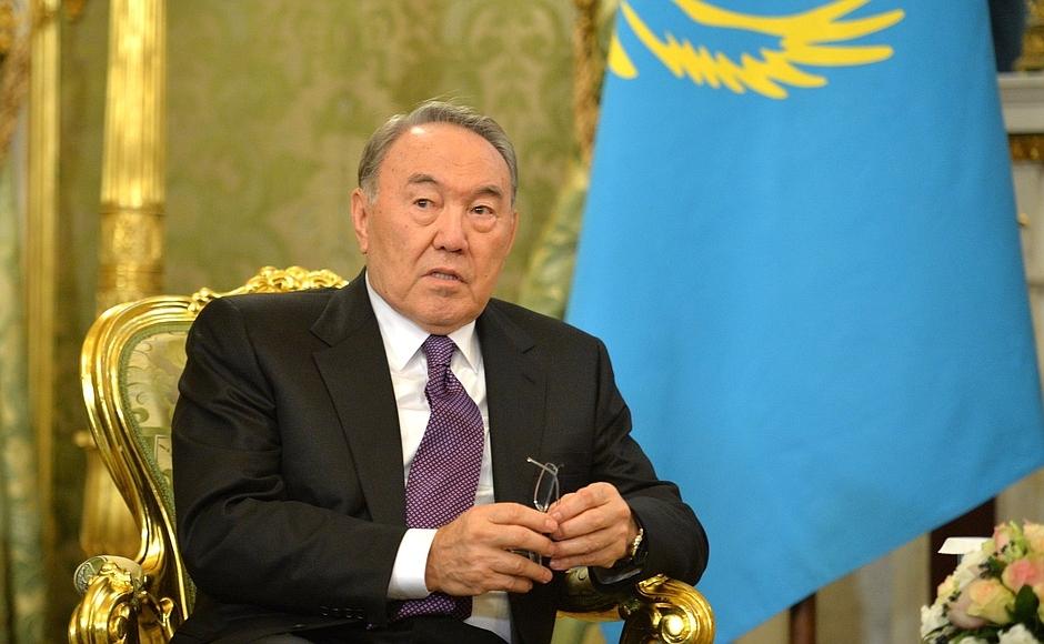 Vladimir Putin met with President of the Republic of Kazakhstan Nursultan Nazarbayev.