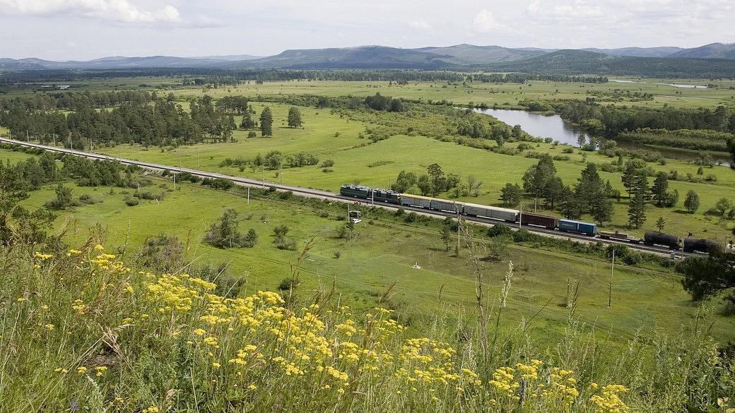 Transsibirische Eisenbahn nach Wien