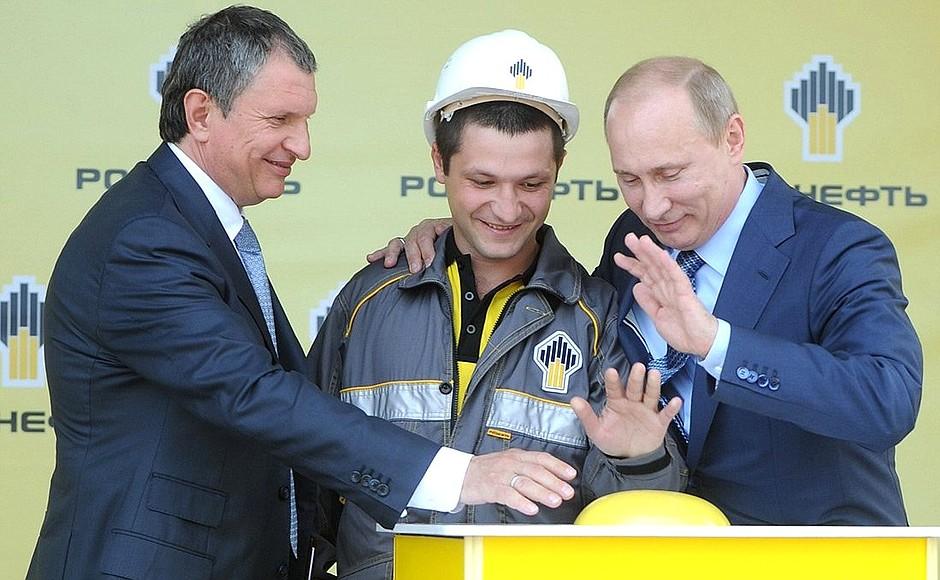 Rosneft-Chef Igor Setschin und Wladimir Putin