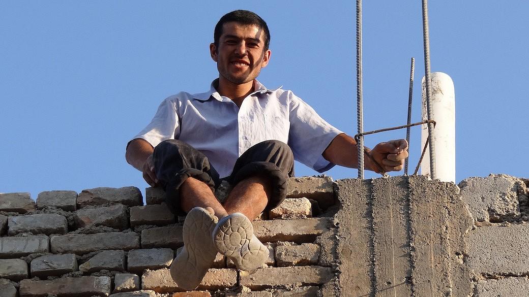 Usbekischer Gastarbeiter in Russland