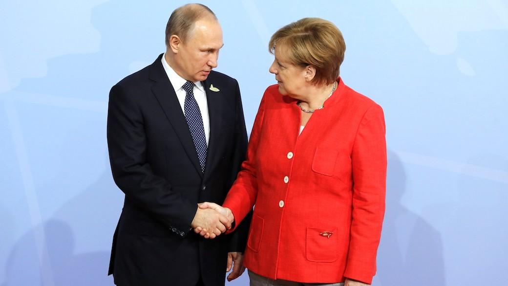 Die deutsche Bundeskanzlerin Angela Merkel und der russische Präsident Wladimir Putin