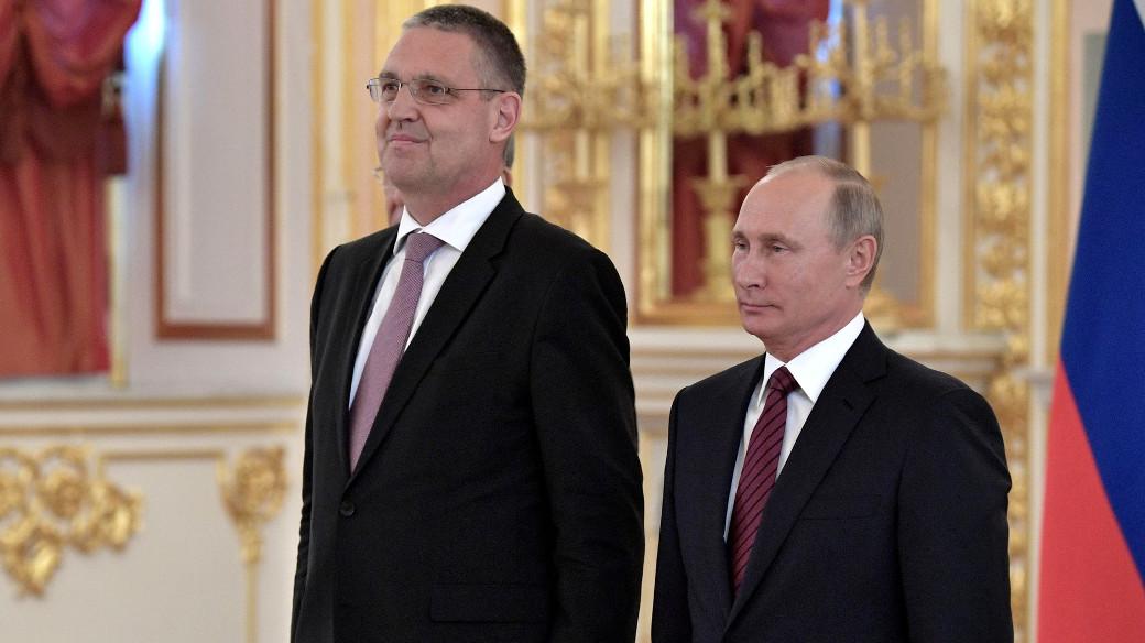 Markus Ederer mit Präsident Putin