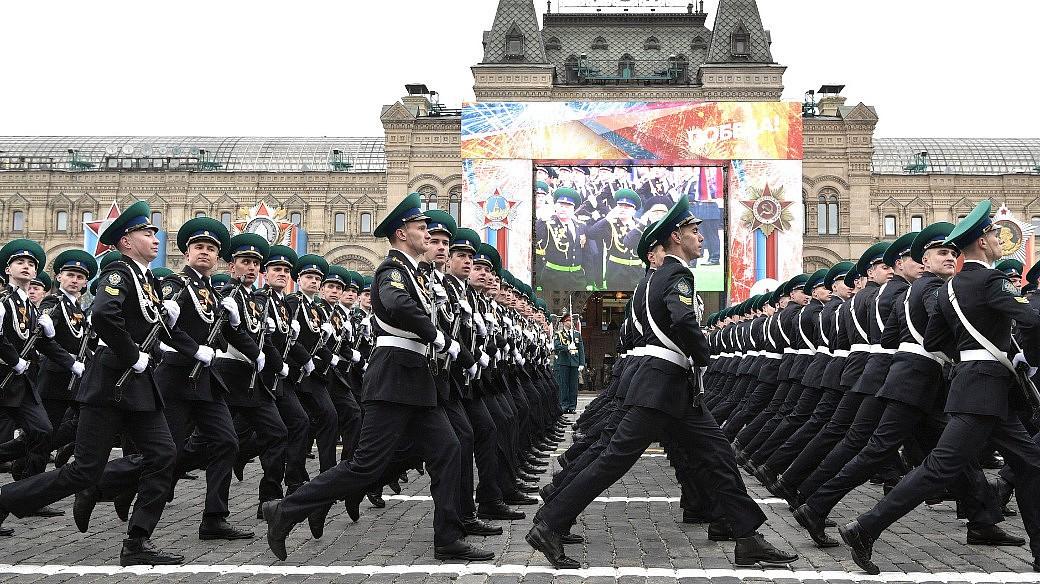 Militärparade auf dem Roten Platz