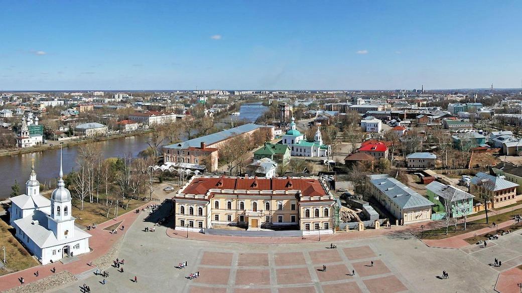 Panoramafoto von Wologda in Russland