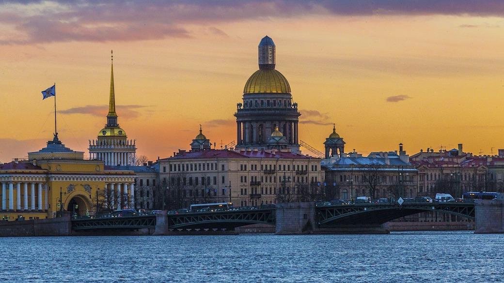 Panoramafoto von Sankt Petersburg in Russland