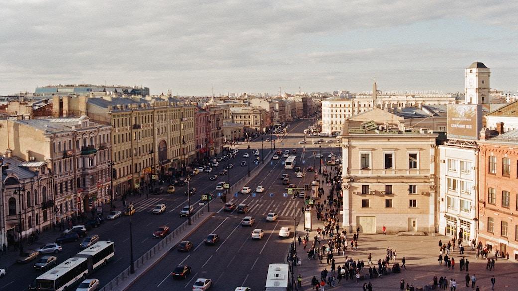 Über den Dächern von Sankt Petersburg