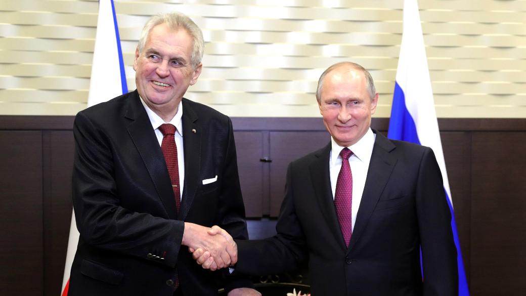 Putin und Milos Zeman