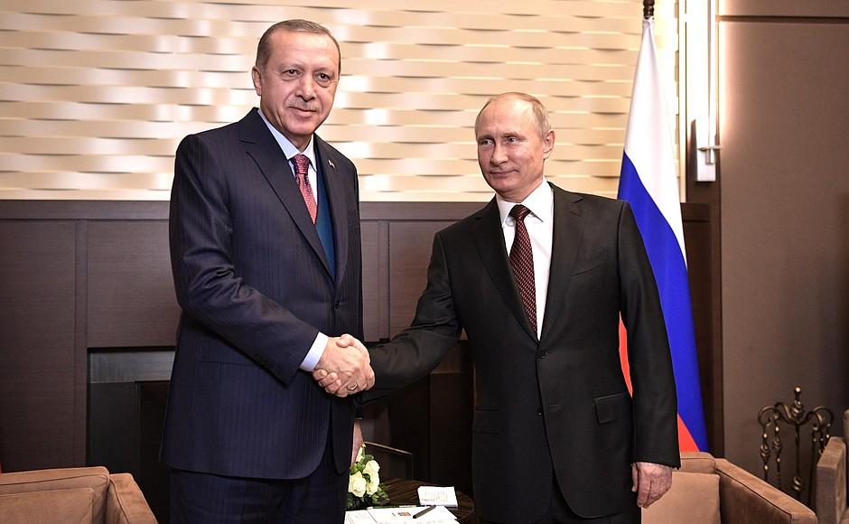 Der russische Präsident Wladimir Putin empfing seinen türkischen Amtskollegen Recep Tayyip Erdoğan in Sotschi.