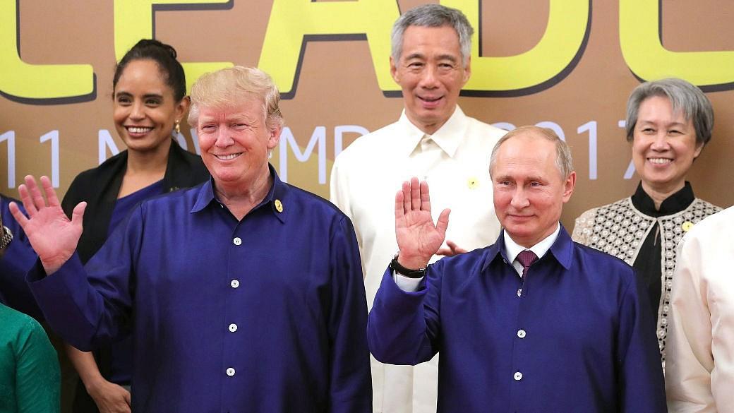Trump, Putin, APEC-Gipfel, winken