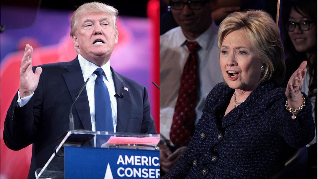 Donald Trump, Hillarz Clinton, Debatte