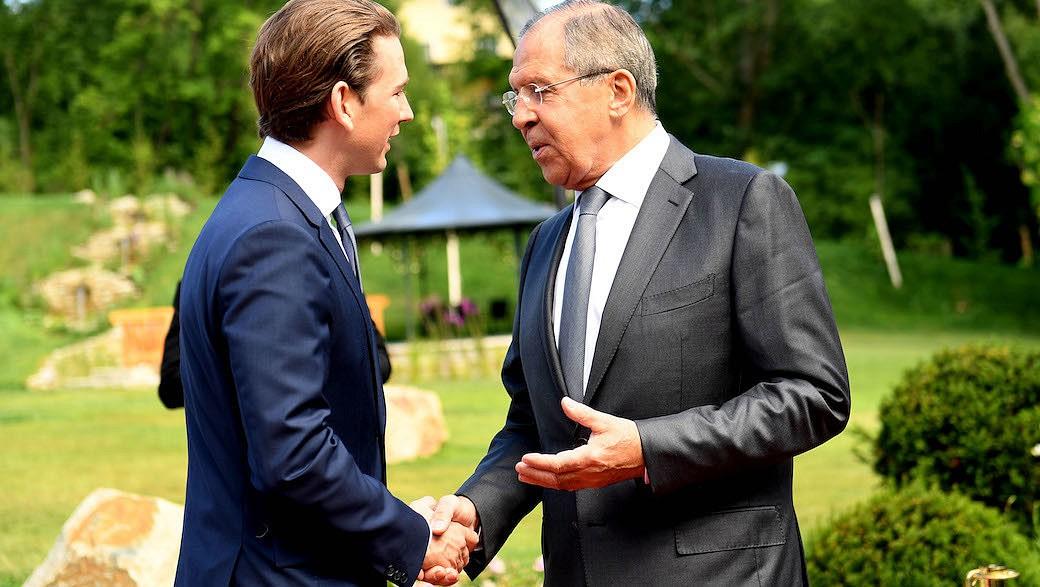 ÖVP-Chef Sebastian Kurz und Russlands Außenminister Sergej Lawrow