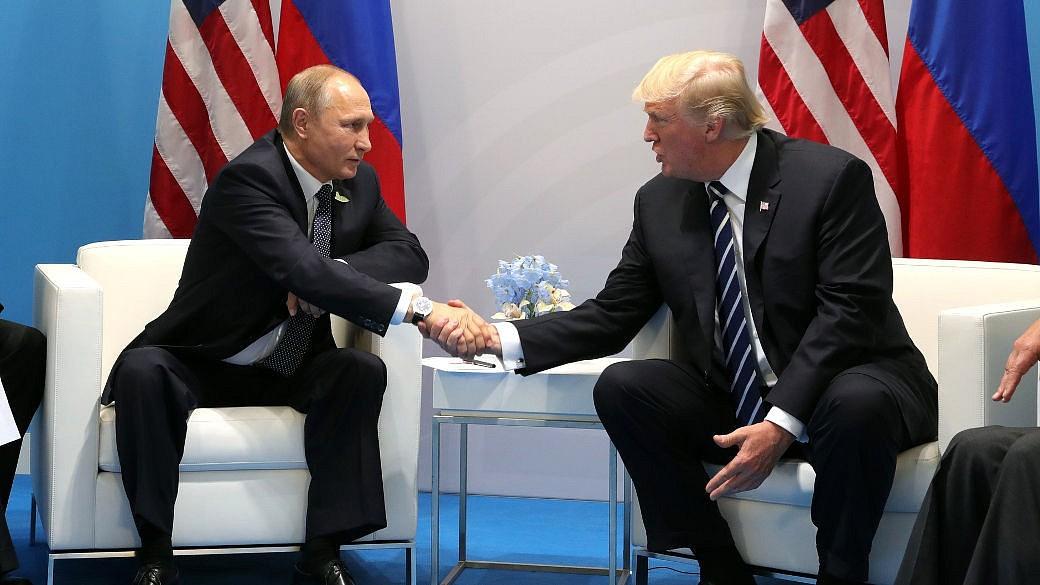 Putin, Trump, Handschütteln