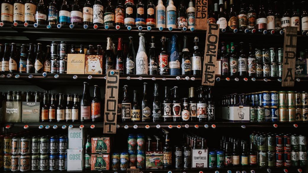 Verkauf von Wein und Bier