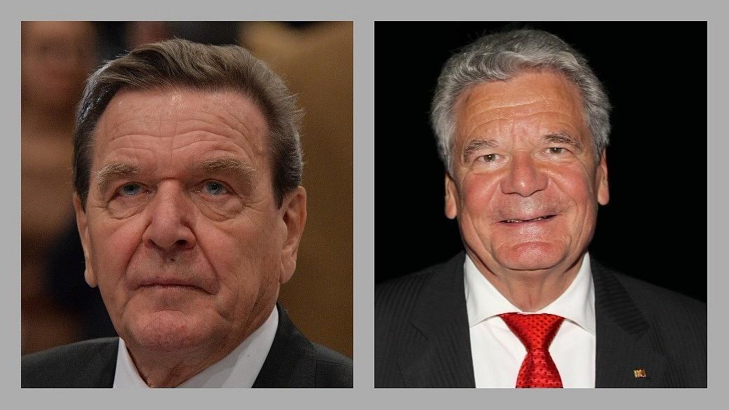 Gerhard Schröder und Joachim Gauck