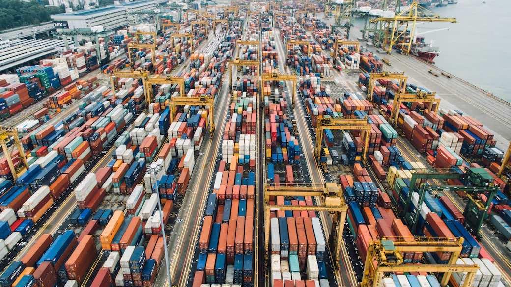 Container, Außenhandel