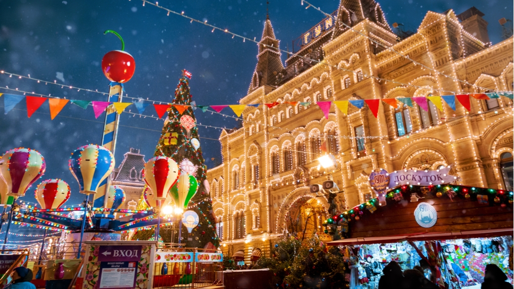 Weihnachtsmarkt in Moskau