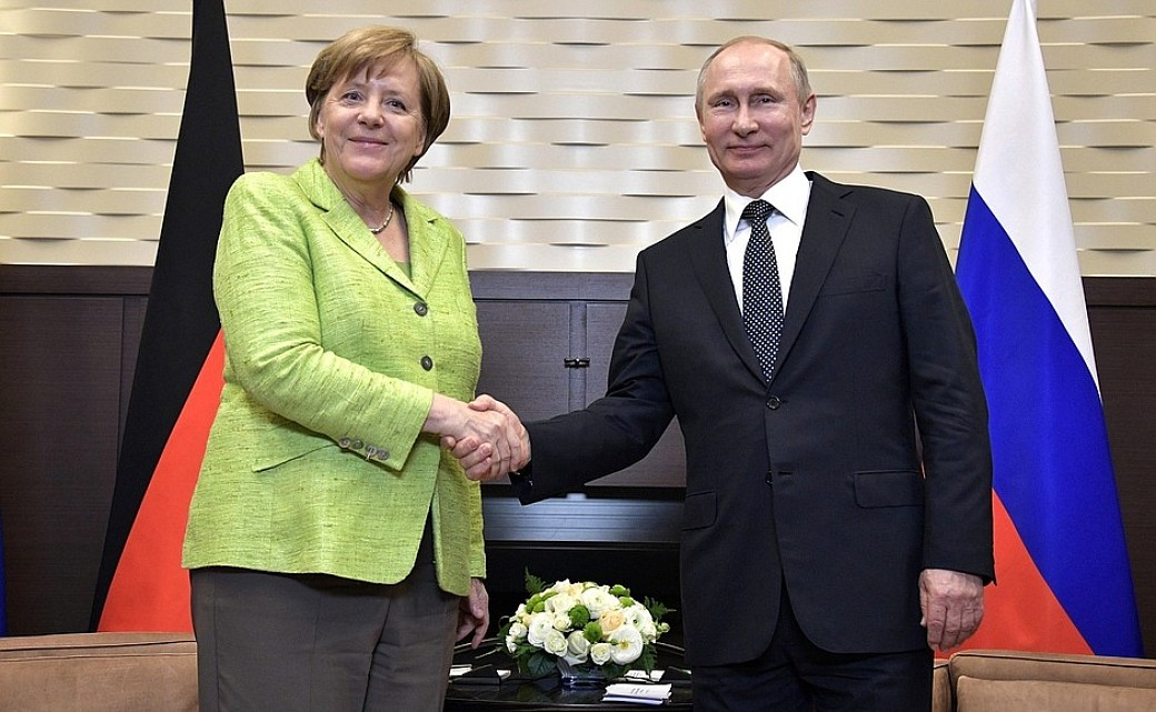 Bundeskanzlerin Angela Merkel und Russlands Präsident Wladimir Putin