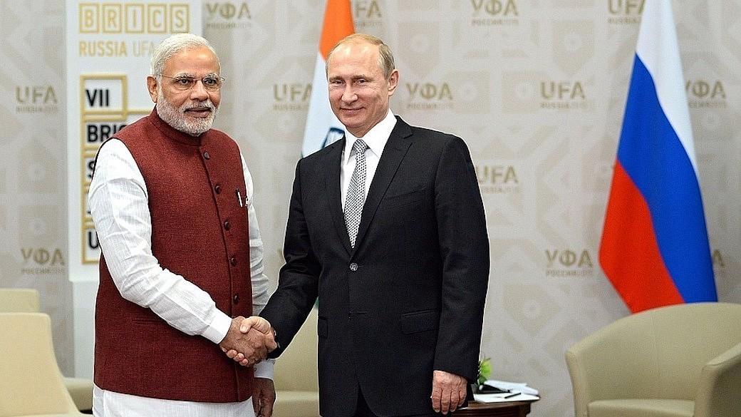 Russlands Präsident Wladimir Putin und Indiens Premierminister Narendra Modi