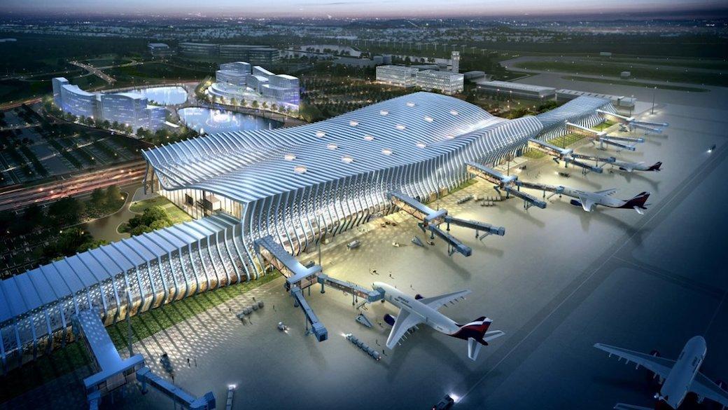 Flughafen-Terminal in Simferopol