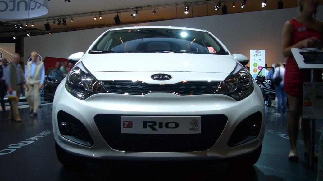 Kia Rio, Autoausstellung