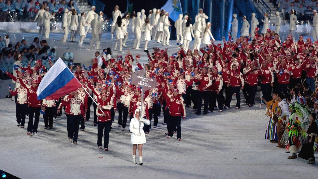 Russische Sportler bei Olympia