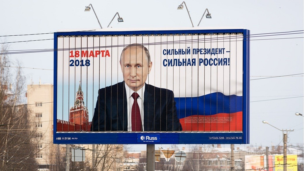 Wahlplakat von Wladimir Putin