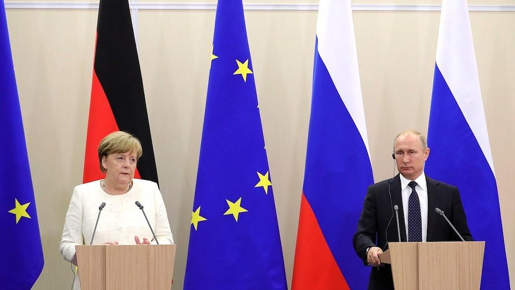 Putin und Merkel in Sotschi Mai 2018