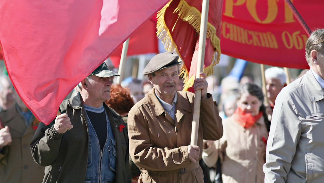 Demonstration am Tag der Arbeit in Russland