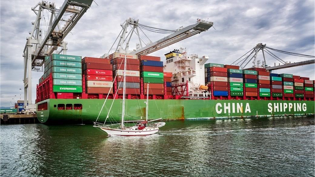 China exportiert Waren