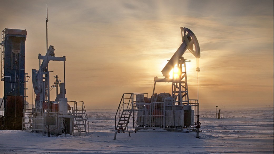 Ölplattform in Russland