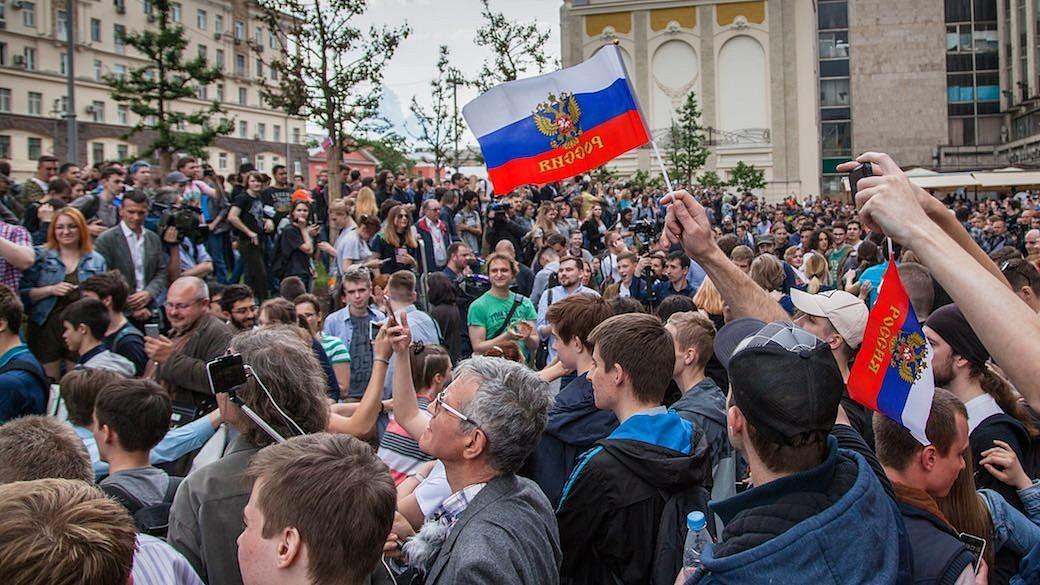 Russland Protest von Navalny