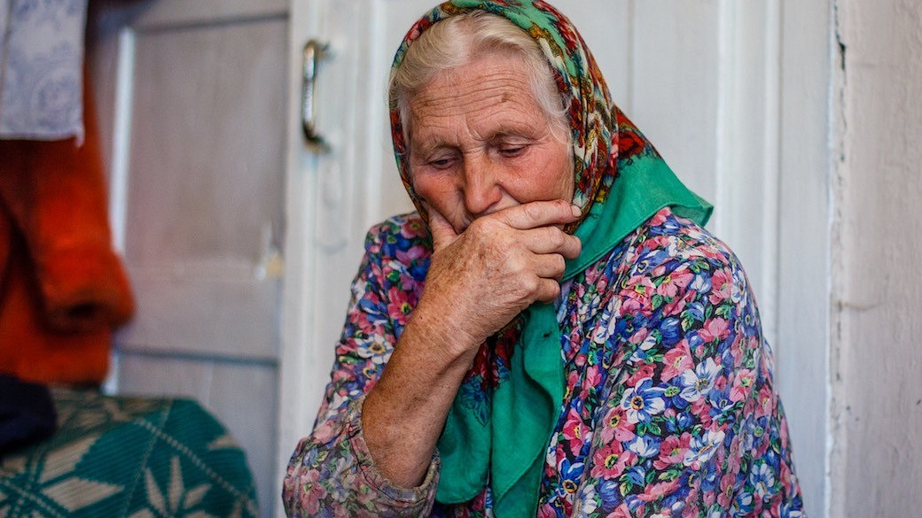 Alte Frau Russland