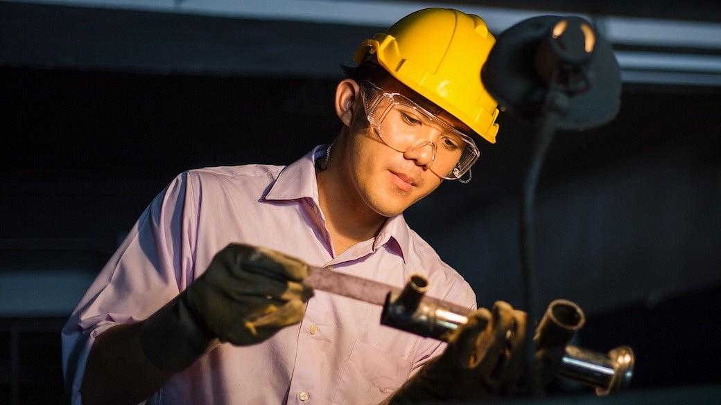 Chinesischer Arbeiter