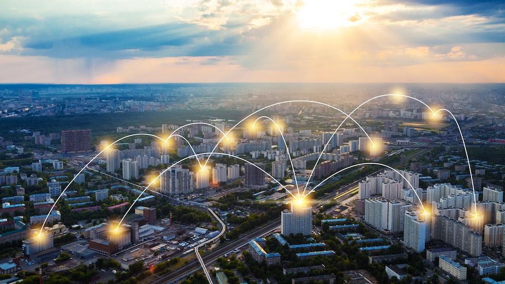 Moskau Netzwerk Smart City