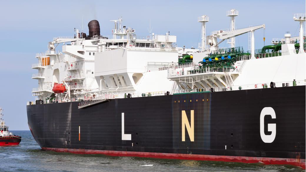 Schiff von LNG
