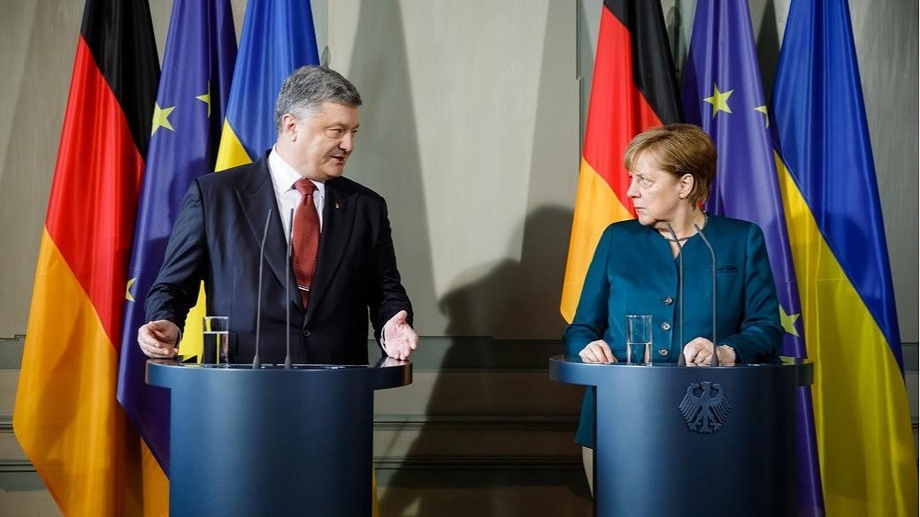 Angela Merkel und Petro Poroschenko