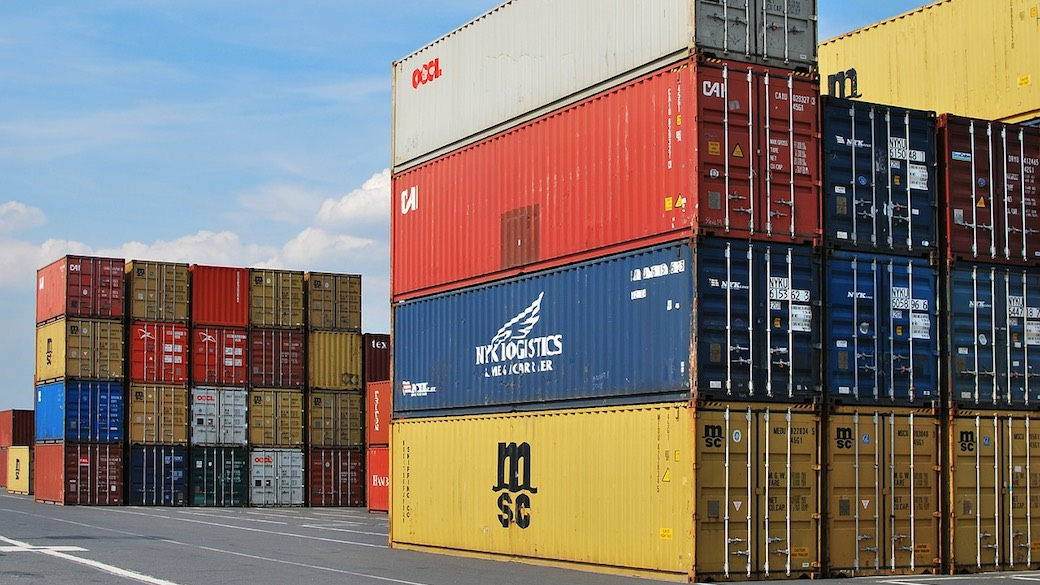 Gestapelte Container