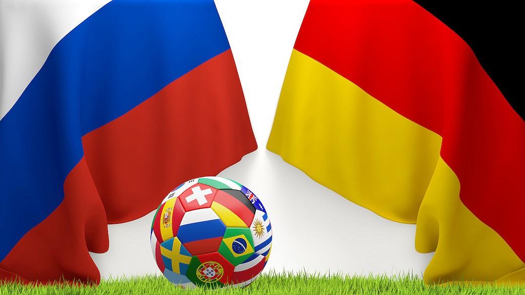 Russland und Deutschland Fußball-WM