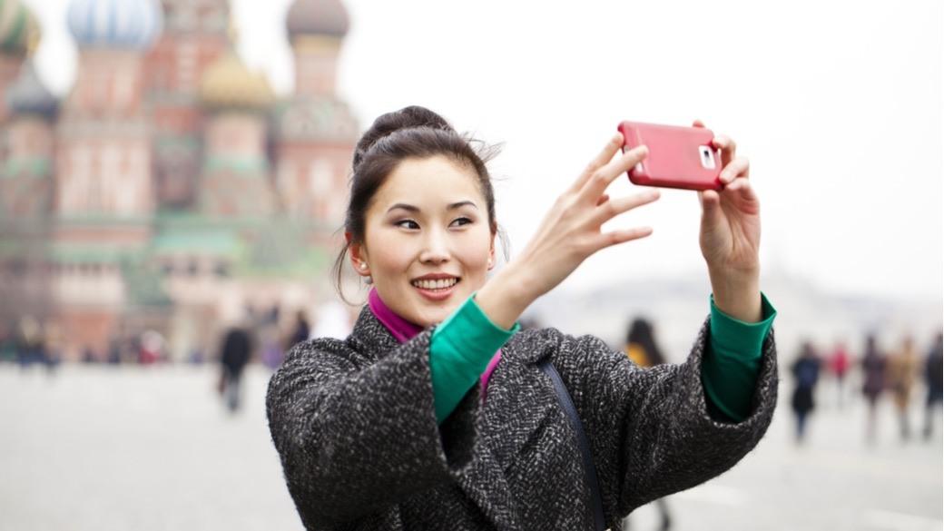 Chinesische Touristen in Russland